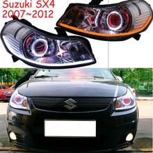 2007~2012y car bumer head light for Suzuki SX4 headlight car accessories LED DRL HID xenon fog for Suzuki SX4 headlamp