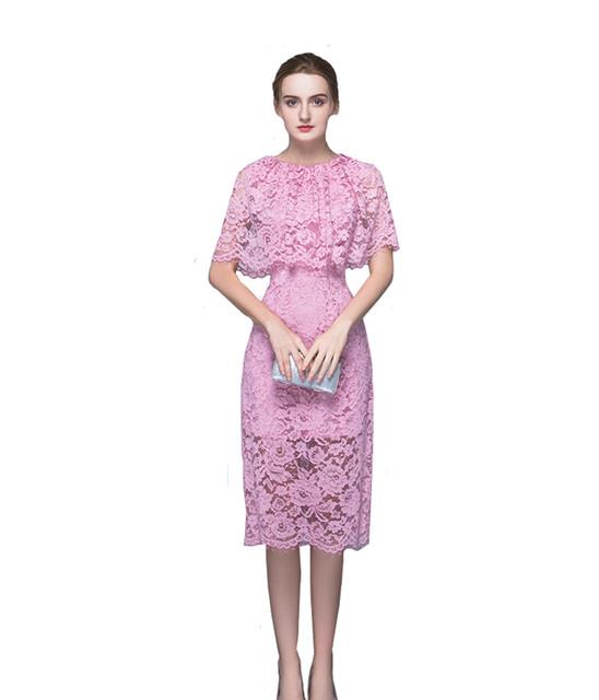 MDBRIDAL Rosa Renda Mãe do Vestido de Noiva Curto com Capa Na Altura Do Joelho Mãe Da Noiva Tamanho do Vestido Personalizado