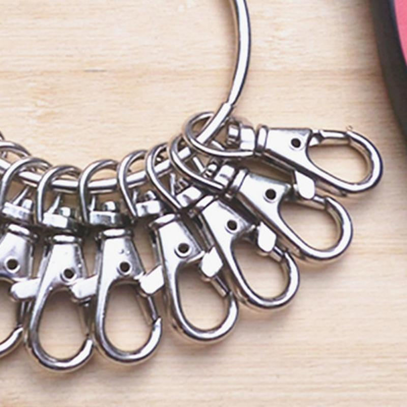 20pcs Pack Aluminum Alloy Swivel Trigger Lobster Clasp Snap Hook Key Chain Ring Lanyard DIY Craft Outdoor Backpack Bag Parts
