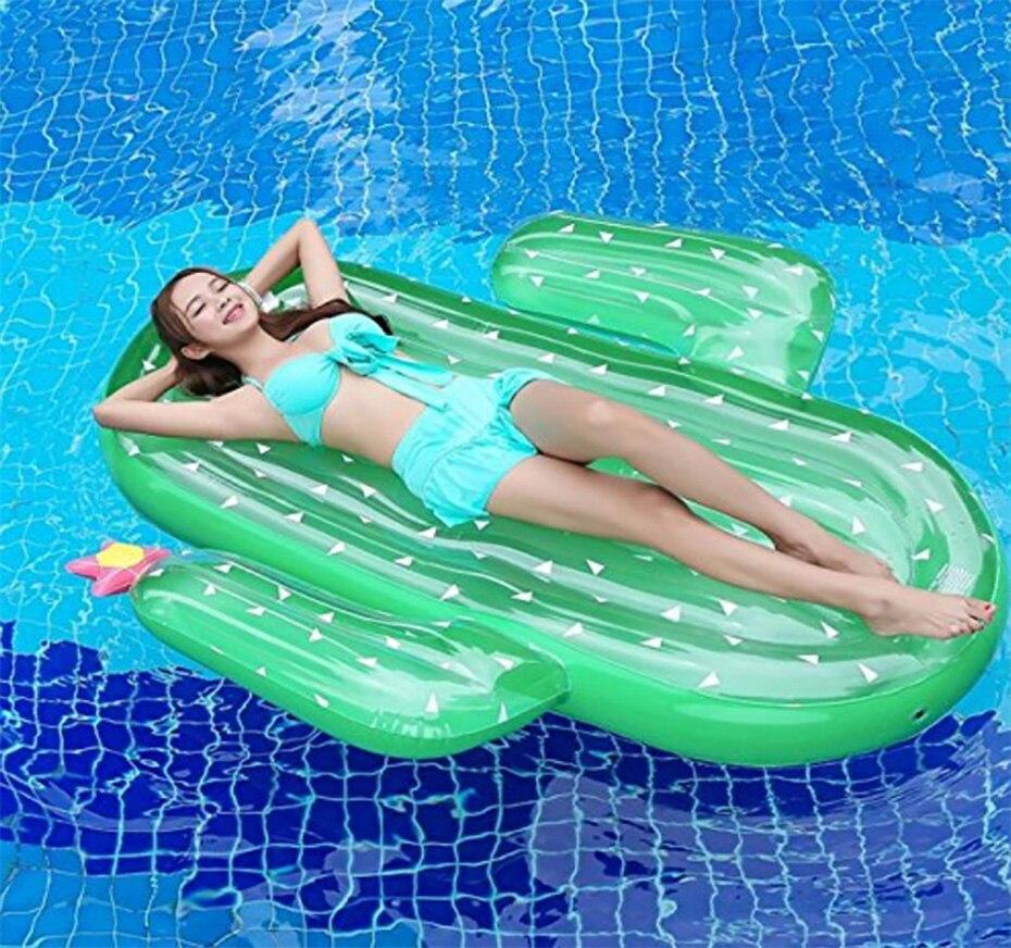 Cactus gonflable eau flottant rangée hamac canapé inclinable lit flottant partie natation spectacle lit gonflable
