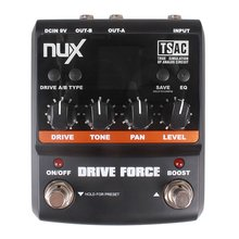 NUX Drive Force Modeling Stomp Simulator Guitar Effect Pedal 10 Modeling Stompbox Models