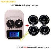1 sztuk ładowarka + 4PCSLIR2016  akumulator LIR2025 LIR2032 LIR2016 3.6 V przycisk baterii  LED akumulator wyświetlacz  interfejs USB w Ładowarki od Elektronika użytkowa na