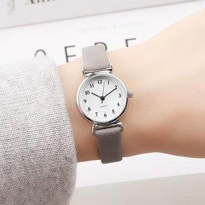 Изысканные маленькие простые ЖЕНСКИЕ НАРЯДНЫЕ часы ретро кожаные женские часы Топ бренд женские модные мини Дизайнерские наручные часы