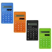 цена на Etmakit Hot Cartoon Mini Calculator 8 Digits Display Dual Power Supply Cute Candy Calculadora Solar Hesap Calculatrice