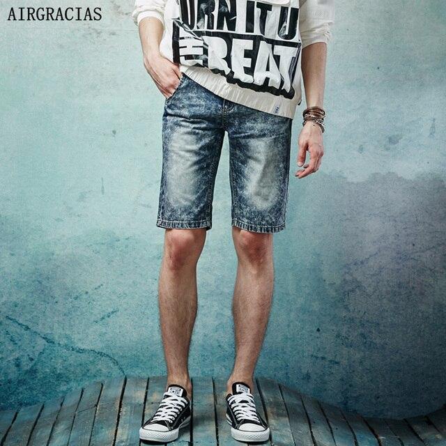 AIRGRACIAS 2017 Летние Мужчины Короткие Джинсы 100% Джинсовые Брюки Хлопок Горячей Продажи Моды Случайные Высокое Качество Мужчины Шорты Жан