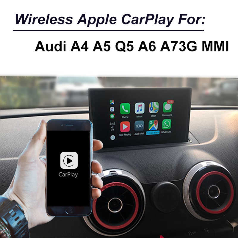 Aftermarket OEM wireless Apple Carplay Android Auto Upgrade for Audi A4 A5 Q5 A6 A7 with mirror link function