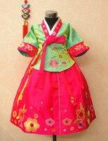 Rabbit fengliu child hanbok female child dress flower girl formal dress performance wear costume