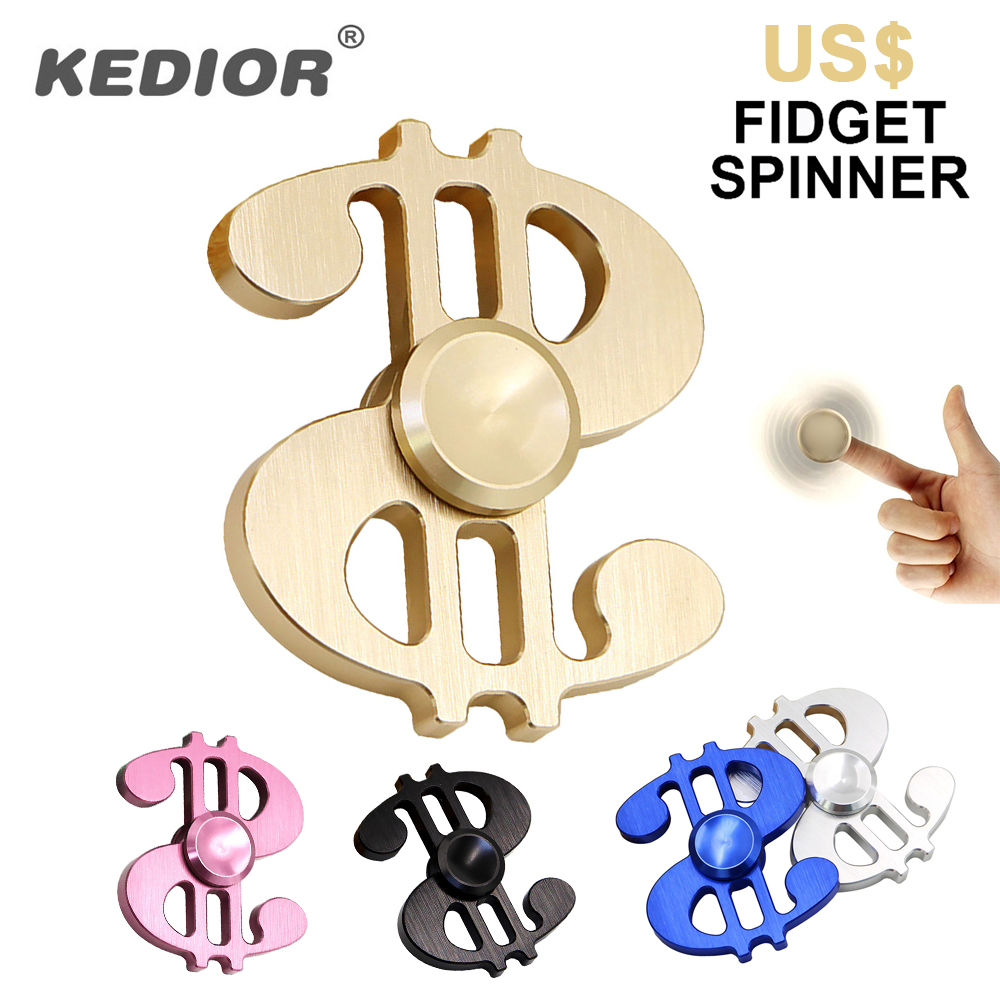 US Dollar Fidget Spinner Desk Anti Stress Finger Spinner Hand Spinner Spinning Top For Autism ADHD EDC Sensory Toy Cube Gifts infinity cube new style spinner fidget high quality anti stress mano metal kids finger toys luxury hot adult edc for adhd gifts