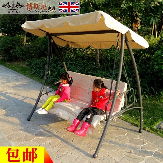 Im Freien Schaukel Hängesessel Stuhl Für Erwachsene Eisen Balkon Schaukel  Im Freien Terrasse Garten Hallenbad Doppel