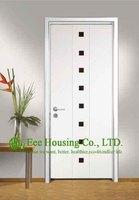 Customized Wood Room Door Design Wood Entrance Door Modern Entry Door With Aluminum Frame