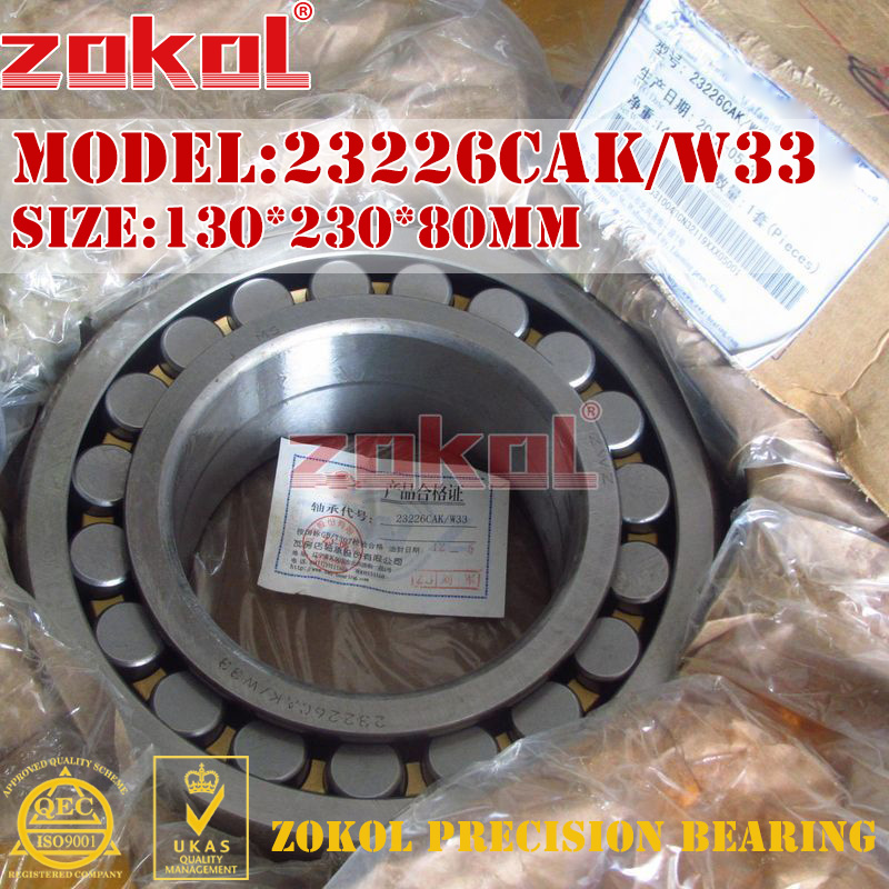 ZOKOL bearing 23226CAK W33 Spherical Roller bearing 3153226HK self-aligning roller bearing 130*230*80mm mochu 22213 22213ca 22213ca w33 65x120x31 53513 53513hk spherical roller bearings self aligning cylindrical bore