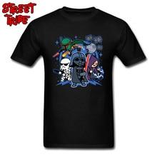 Men Star Wars T Shirt Street Darth Vader And Friends T-shirt Black Tshirts  100 40b3da9310be6