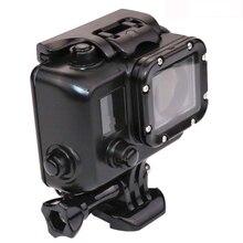 Nova Gopro hero3 Protetora caso da habitação à prova d' água + montagem para Gopro go pro hero 3 acessórios da câmera edição preta