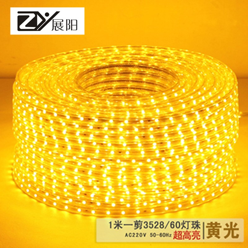 Led strip 3528 SMD led with ceiling lights led strip wall band bright 220v led strip wat ...