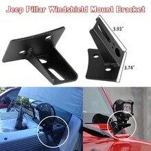 Wrangler JK support de montage à charnière pour pare brise, accessoire à montage tout terrain LED, HID ou anti brouillard halogène, JP