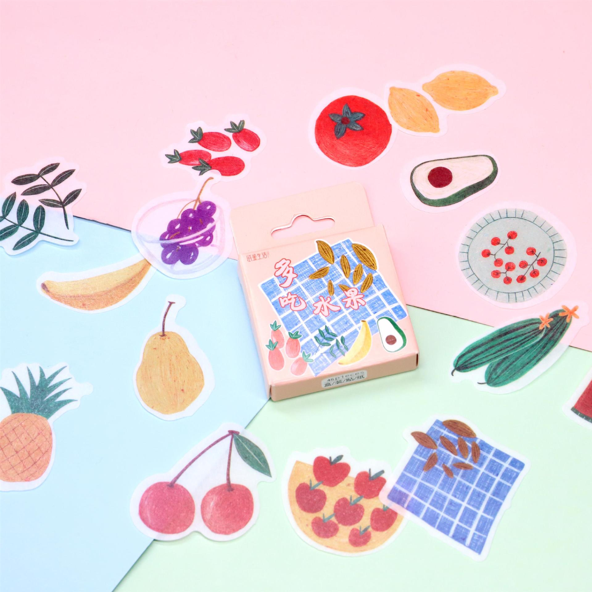 45pcs/pack Kawaii Magic Pocket Mini Paper Stickers Diy Album Diary Scrapbooking Label Sticker Stationery Decoration