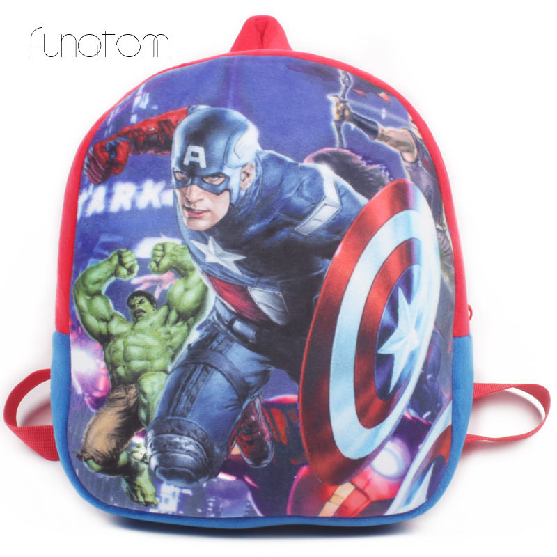 2019 New Baby Lovely School Bags Kids Capation Plush Backpack Cartoon Schoolbags Spiderman Mini Cute Bags For Kindergarten Boy