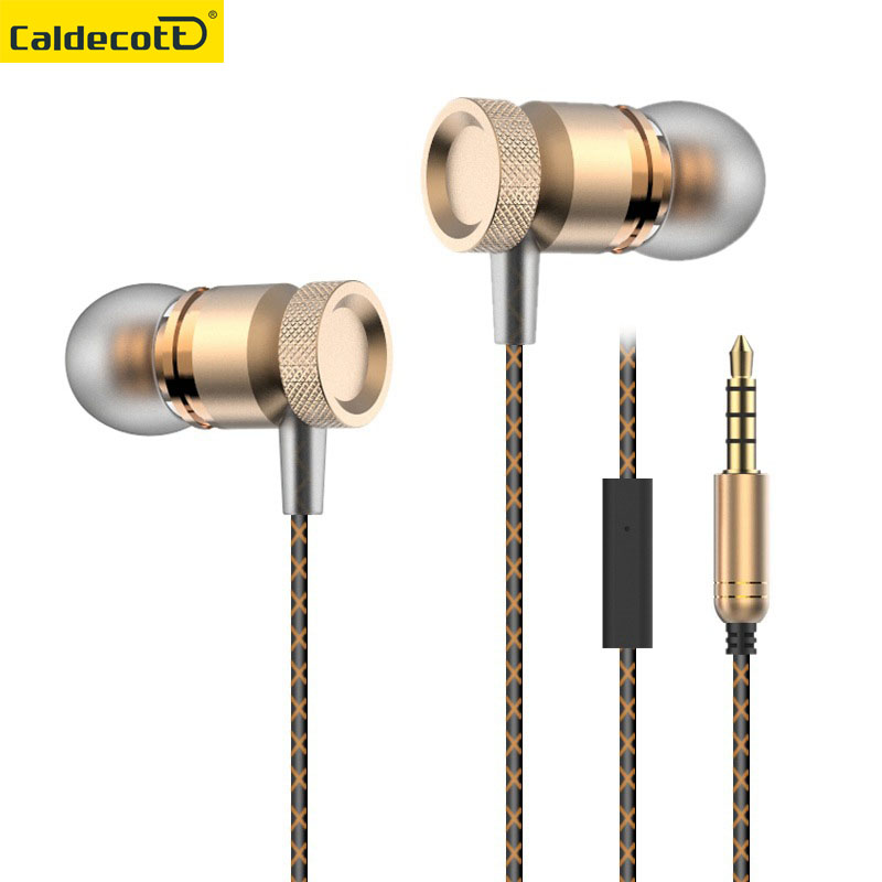 Metal 3.5MM Jack Stereo Surround Bass in- Ear wired Earphone With Microphone Ear Buds For  Mobile Phone Headset keeka mic 103 stylish universal 3 5mm jack wired in ear headset w microphone red blueish green