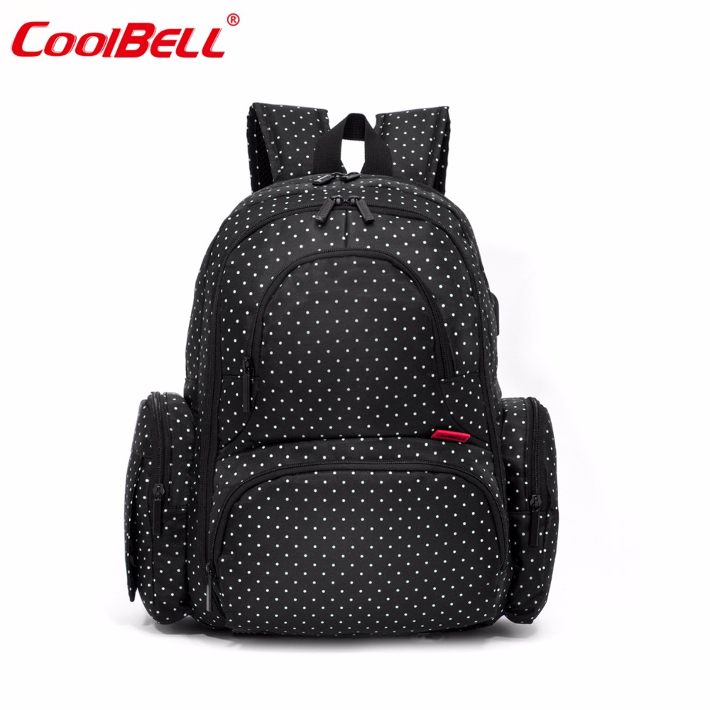 CoolBell Brand Multifunctional Mummy Bag Fashion Nappy Bag Backpack Waterproof Large Capacity Baby Diaper Bags Mommy Bag