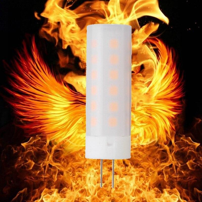 Best Price LED Lamp Bulb G4 Flame Effect Flickering Burning Firing LED Corn light Bulb 12V Home Decoration Replace Halogen Lamp