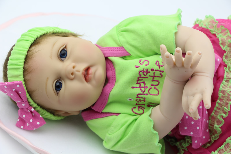 22 Inch 55cm Silicone Baby Reborn Lifelike NPK Collection Doll Handmade Newborn Girl Babies Gift  For Kids Birthday can sit and lie 22 inch reborn baby doll realistic lifelike silicone newborn babies with pink dress kids birthday christmas gift