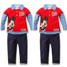 Outfits & Sets! 2PCS NEW Baby Boys long sleeve Mickey Top+Pants fit 2-7Y