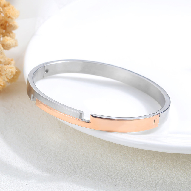 Браслет из титановой стали браслеты розового золота с цирконием