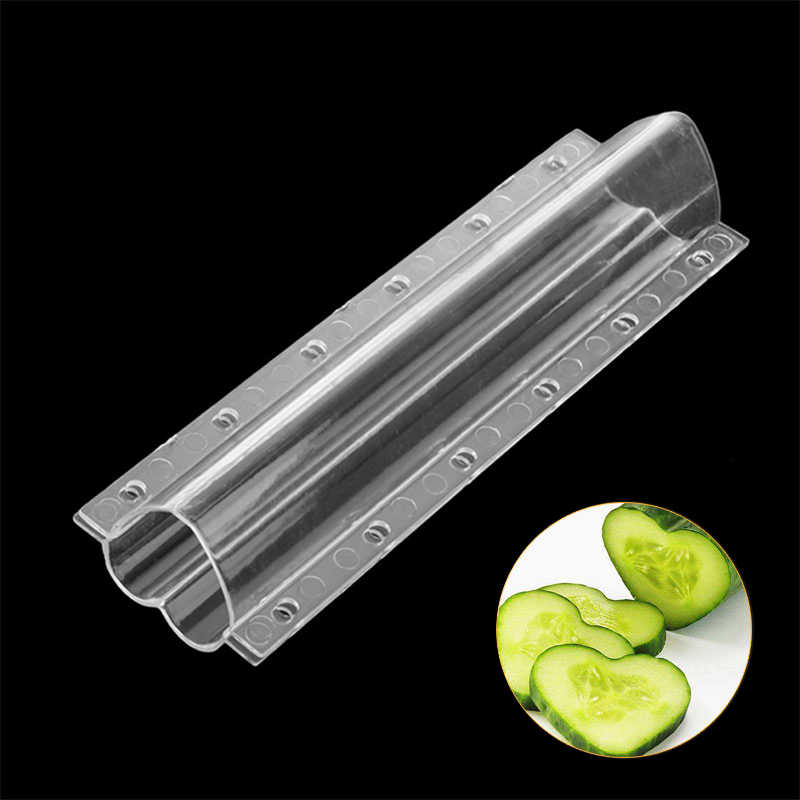 Plastic Cucumber Growth Mold Heart/Star Shaping Fruit Vegetable Growing Mold Transparent Planting Forming Mould