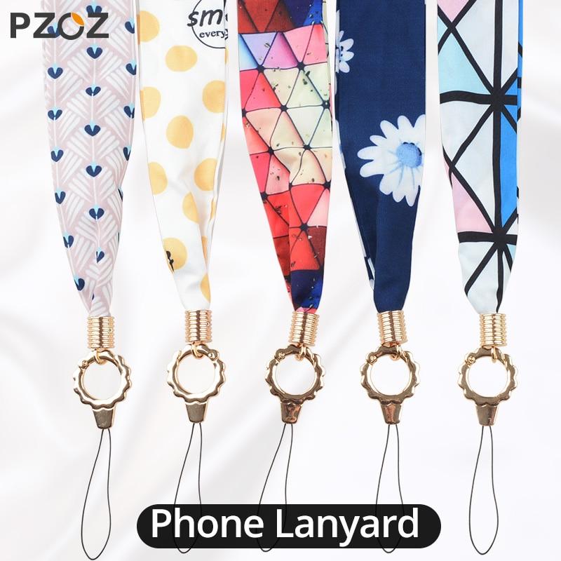 PZOZ For IPhone Samsung Xiaomi LG Mobile Phone Lanyard Strap Anti-loss DIY Hang Wave Rope Fashion Neck Straps Keychain Lanyard