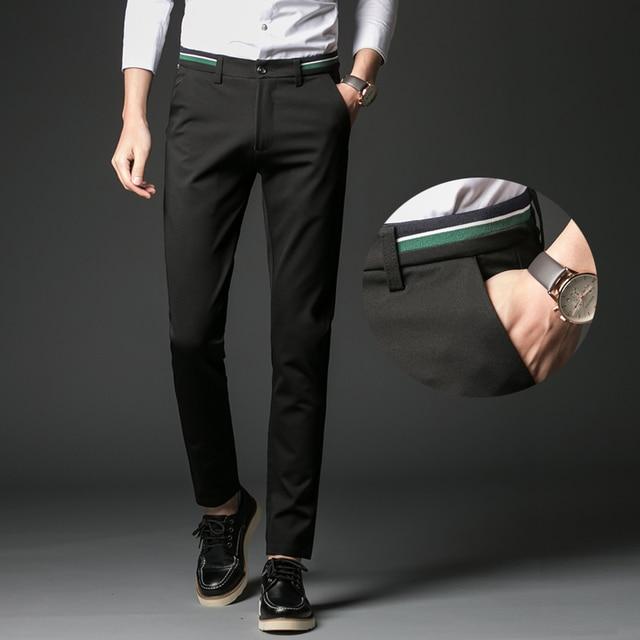 Aliexpress.com : Buy 2017 Casual Suit Pants Men Slim Fit Straight ...