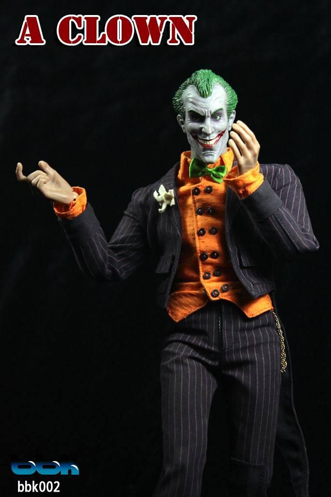 BBK 1/6 Scale doll figure model,12 Action figure doll Comics version Comic  Clown ,Collection Model Toy 12 inch 30cm wooden model comic