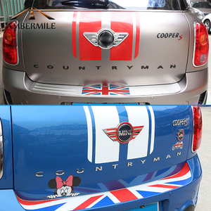 Image 4 - AMBERMILE 3D Metal Letters Stickers Rear Trunk Logo Emblems Car Words Sticker for BMW Mini Cooper Countryman R60 F60 Accessories