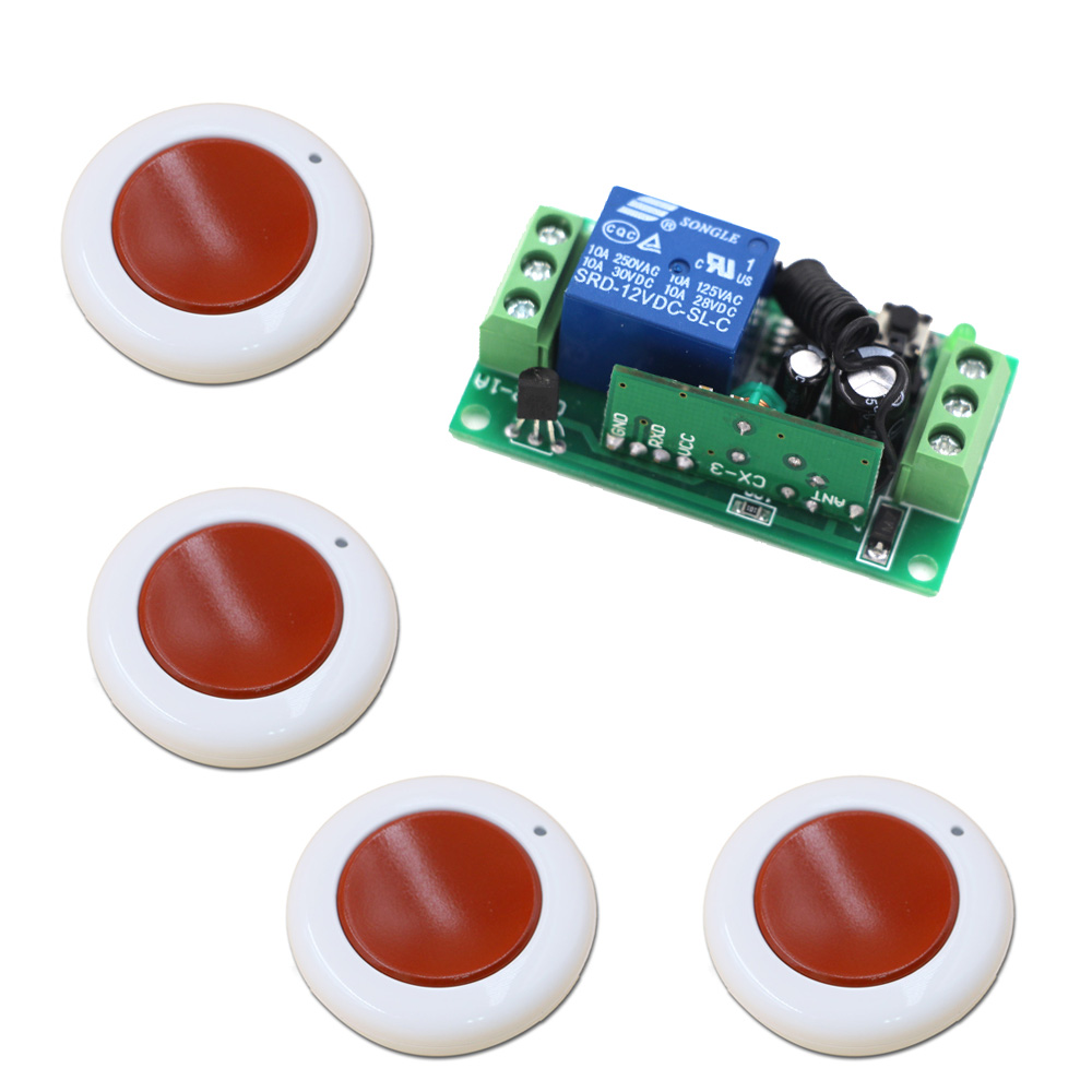 12V 24V Wireless Remote Switch 9V 10A Relay Module Transmitter Remote Control Switch For Motor Light LED 315/433Mhz