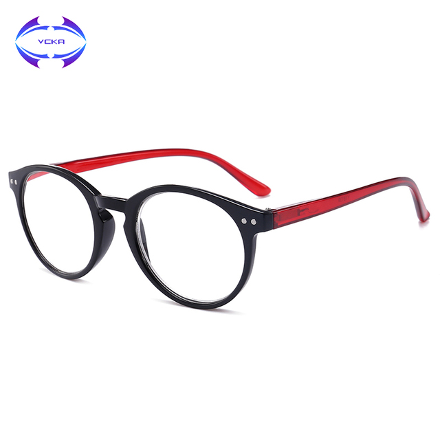 VCKA Reading Glasses Women Men Ultralight Resin Lenses Elderly TR90 Presbyopic Eyeglasses Diopter 1.0 1.5 2.0 2.5 3.0 3.5 4.0