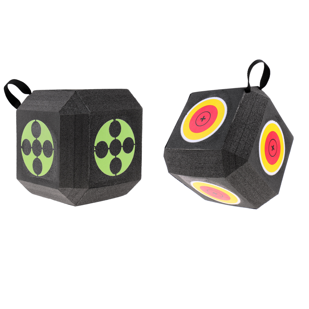 18-Sided 3D Cube Reusable Archery Target Constructed With Rapid Self Recovery XPE Foam For All Arrow Types Hunting Shooting