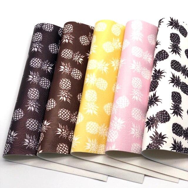 1 piezas A4 tamaño 21X29 cm Alisa brillo Cuero Sintetico Cuero piña DIY pelo Accessroies de Cuero artesanal para DIY G13B