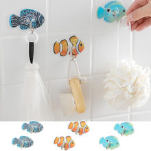 Animal Self Strong Adhesive Clothing Display Racks Hook Coat Hanger Cap Room Decor Show Wall Bag Keys Sticky HolderBathroom 529(China)