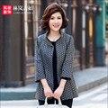 Плюс Размер 4Xcl Женщины Осень-Весна Плащ Печати Моды Случайные Slim Fit Женский Траншеи И Пальто A3041