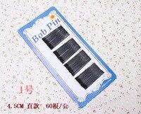 50cards 30000pcs 45mm Invisible Hair Accessories Black Bobby Pin Ball Tip Clip Headdress Fine Hairpin Hair