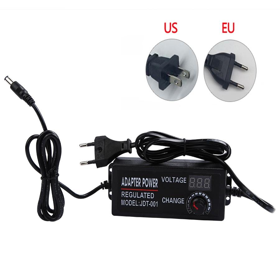Adjustable AC To DC 3V 9V 12V 24V Universal Power Adapter Supply Display Screen Power Switching Charger Adatper 3 9 12 24 V Volt