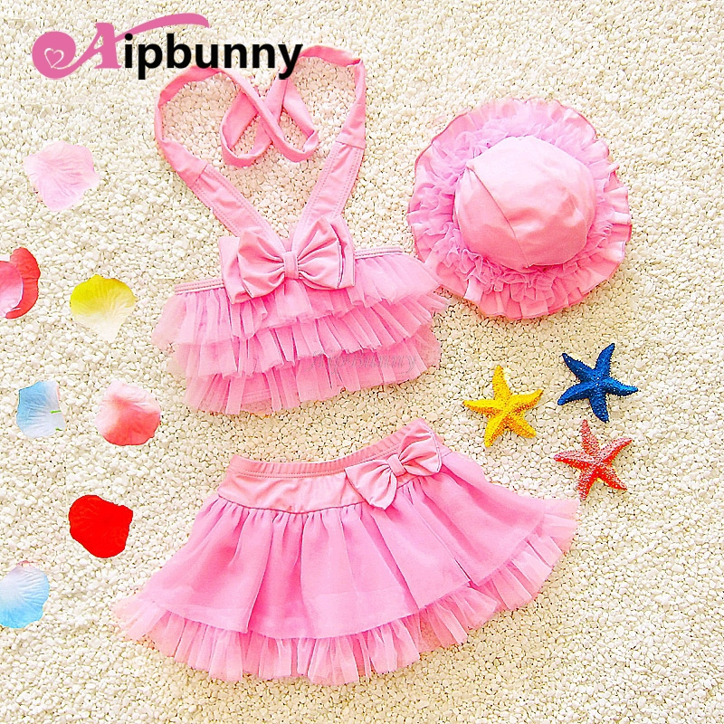Aipbunny 2018 New Children Clothing Swimwear Baby Kids Cartoon Cute Bikini Set Girls Two Pieces Split swimsuit Bathing suit