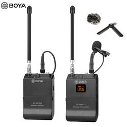 BOYA BY-WFM12 VHF Wireless Microphone System Lapel Lavalier Mic for iPhone 8 7 plus Smartphone DSLR Camera Video Live Recording