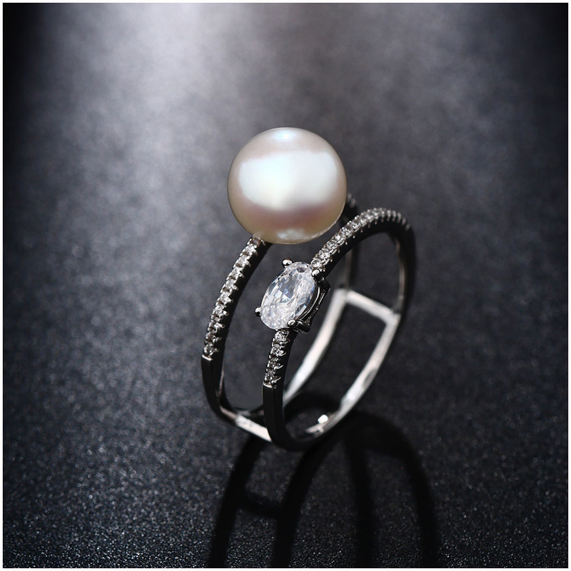 Hongye New Design 100% բնական Pearl Rings 925 - Նուրբ զարդեր - Լուսանկար 3