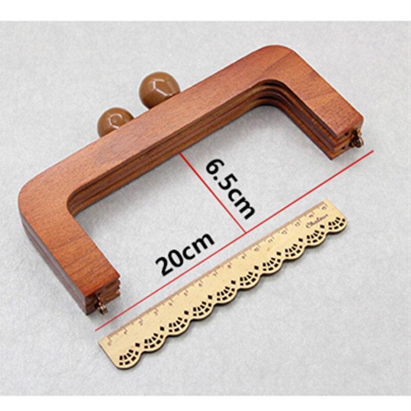20 см М Тип кошелек дерево шить кошелек рама закрытия, изменить Дамы деревянные Сумка Сумочка ручка Рамка DIY