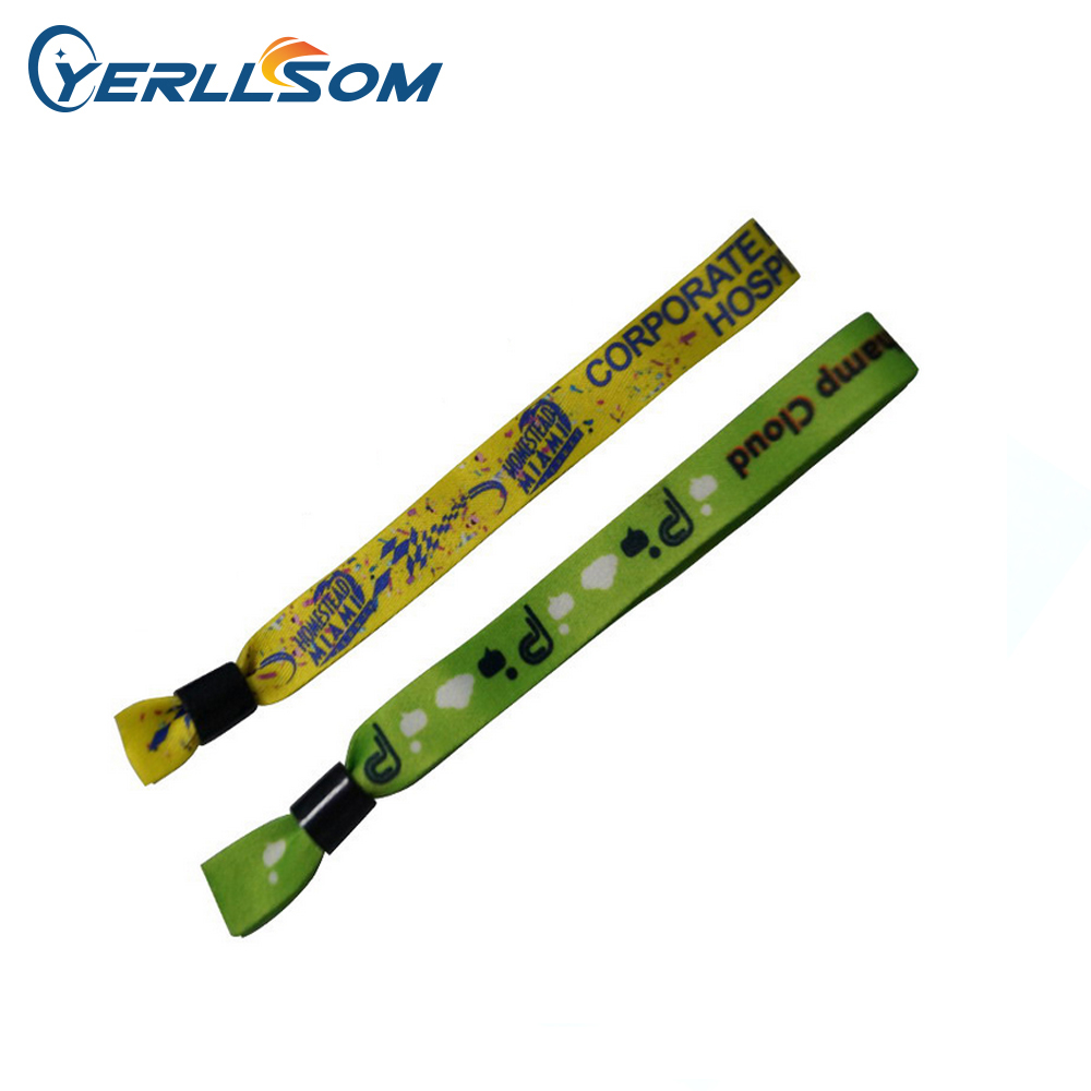 YERLLSOM 100PCS lot Customized Personalized printing logo fabric wristbands bangles for gifts Y061501