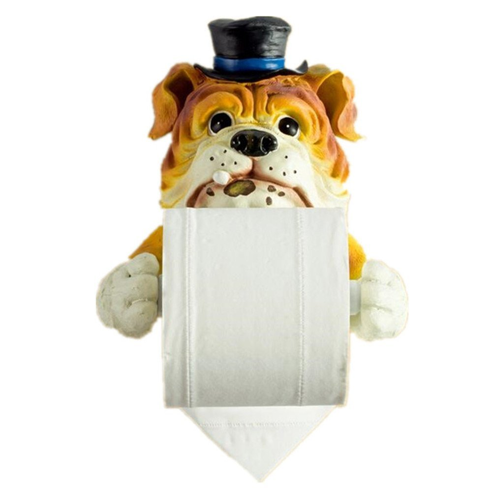 Creative Bathroom Toilet Paper Holder, Super Lovely Housekeeper Dog Towel Holder, Kitchen Tissue