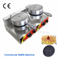 Hot Sale Commercial Waffle Machine Double Heads Electric Nonstick Waffle Baker Kitchen Appliance Snack Device 220V/110V