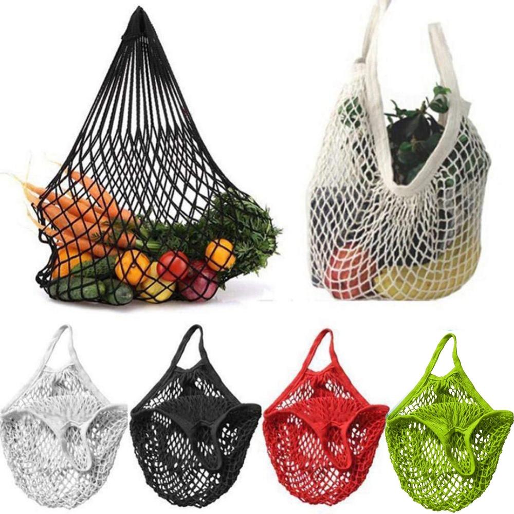 Totes Cloth Food-Storage-Bag Beach-Bags Vegetable Kitchen Travel Mesh Knit Creative