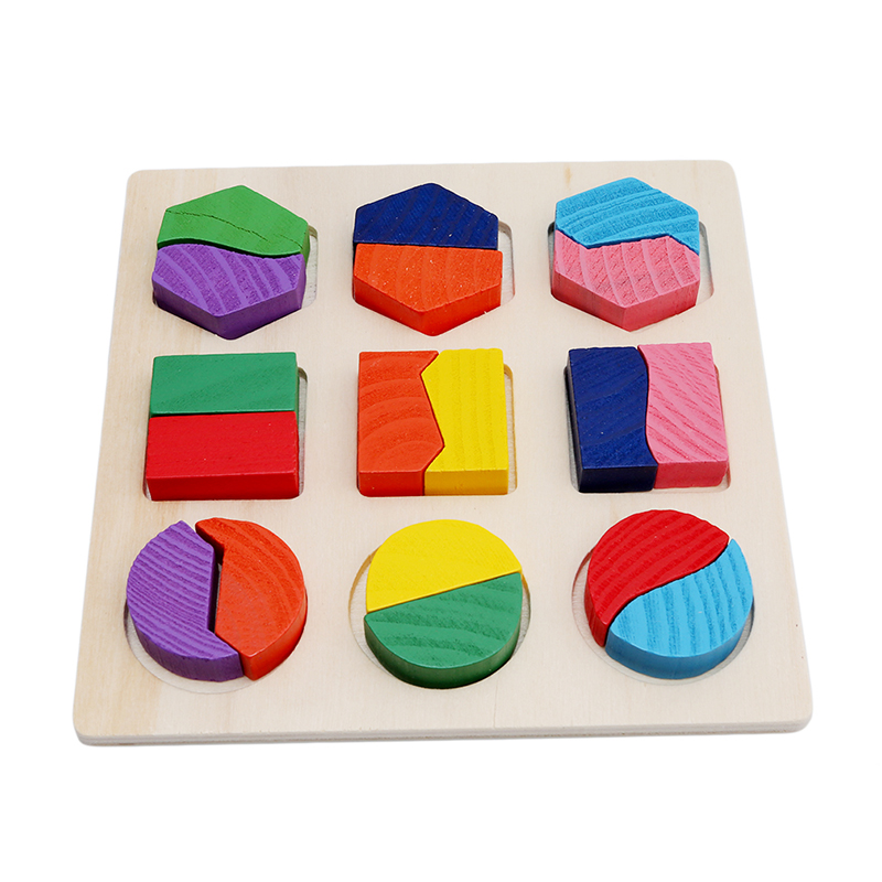 Baby Wooden Building Block Montessori Early Educational Toys Intellectual Geometry Toy MU974477