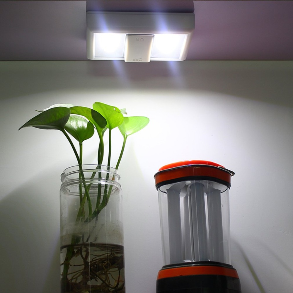 LED Lamp With ON/OFF Switch Wall Light Battery Operated
